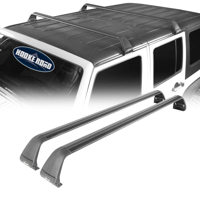 Hooke Road Jeep JK Roof Rack Cross Bars Side Rail Roof Rack for Jeep Wrangler JK 2007-2018 MMR1792 Jeep JK Accessories Jeep Wrangler Parts u-Box Offroad 2