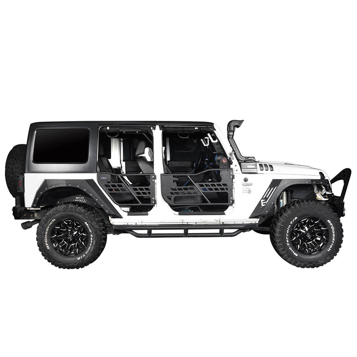 Hooke Road Jeep JK Running Boards and Tubular Half Doors Combo for Jeep Wrangler JK 2007-2018 BXG106136 Jeep JK Side Steps Jeep Tube Doors Jeep Half Doors u-Box Offroad 10