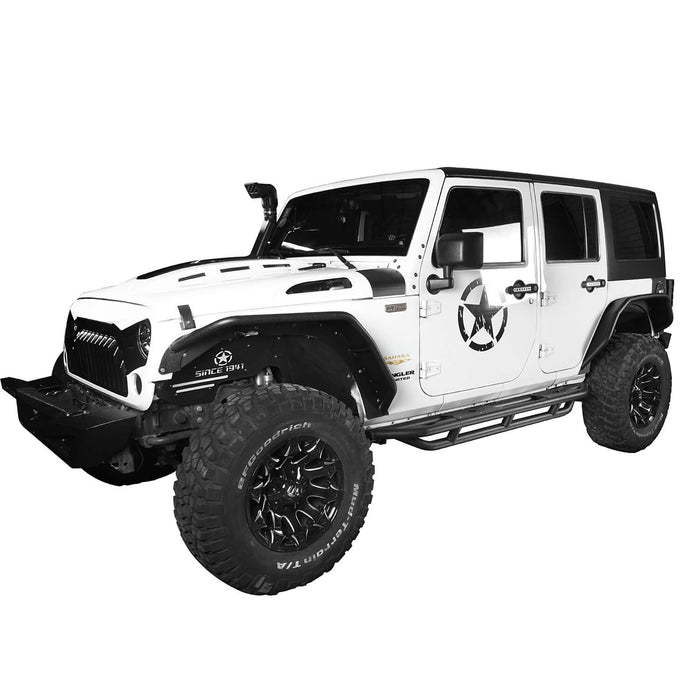 Hooke Road Jeep JK Running Boards and Tubular Half Doors Combo for Jeep Wrangler JK 2007-2018 BXG106136 Jeep JK Side Steps Jeep Tube Doors Jeep Half Doors u-Box Offroad 5