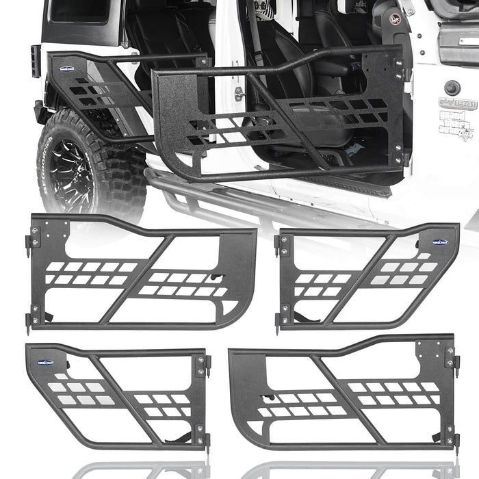 Hooke Road Jeep JK Running Boards and Tubular Half Doors Combo for Jeep Wrangler JK 2007-2018 BXG106136 Jeep JK Side Steps Jeep Tube Doors Jeep Half Doors u-Box Offroad 9
