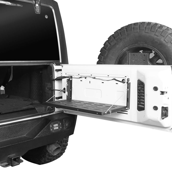Jeep JK Tailgate Table Foldable Table Storage Cargo Shelf for Jeep Wrangler JK 2007-2018 MMR1789 Jeep JK Interior Storage 3