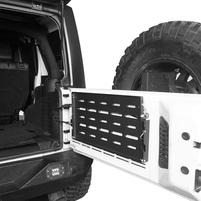 Jeep JK Tailgate Table Foldable Table Storage Cargo Shelf for Jeep Wrangler JK 2007-2018 MMR1789 Jeep JK Interior Storage 4