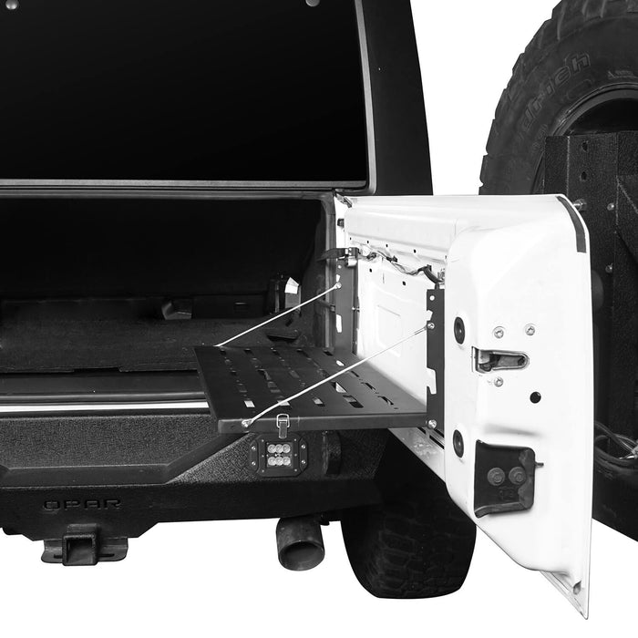 Jeep JK Tailgate Table Foldable Table Storage Cargo Shelf for Jeep Wrangler JK 2007-2018 MMR1789 Jeep JK Interior Storage 6