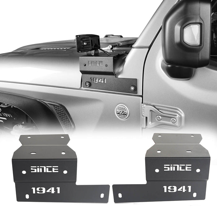 Hooke Road Jeep JL A-Pillar Light Mounting Brackets for Jeep Wrangler JL 2018-2019 MMR1828 Jeep Light Mounts A Pillar Light Mounts  2