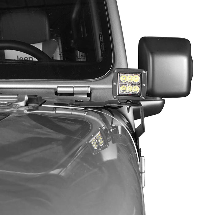 Hooke Road Jeep JL A-Pillar Light Mounting Brackets for Jeep Wrangler JL 2018-2019 MMR1828 Jeep Light Mounts A Pillar Light Mounts 3