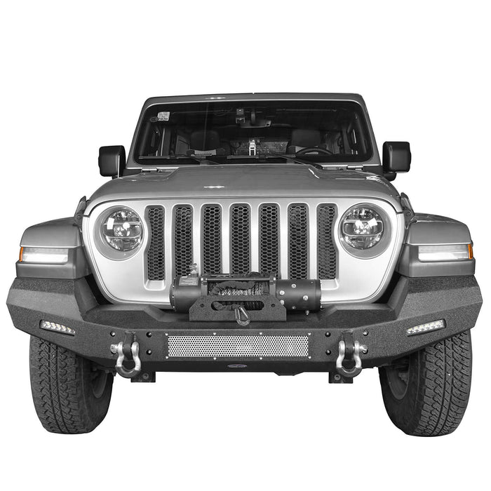 Hooke Road Jeep JL Front Bumper Climber Front Bumper with Winch Plate for Jeep Wrangler JL 2018-2019 BXG516 Jeep JL Bumper Jeep JL Accessories u-Box Offroad 3