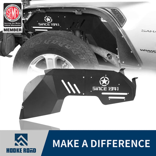 Hooke Road Jeep JL Front Inner Fender Liners for Jeep Wrangler JL 2018-2019 MMR3001 Jeep JL Fenders Jeep JL Accessories u-Box Offroad 1