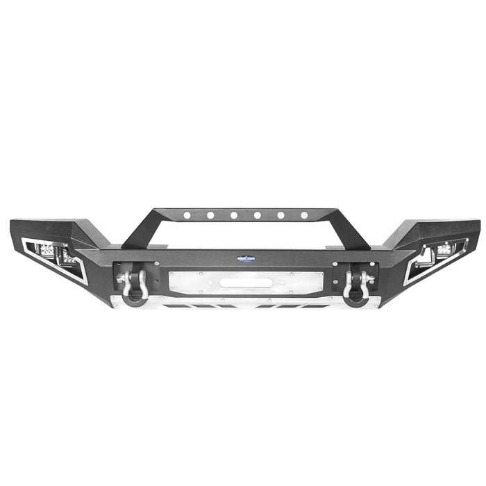 Hooke Road Jeep JL Full Width Front Bumper with Winch Plate for Jeep Wrangler JL 2018-2020 BXG517 Jeep JL Accessories u-Box offroad 7