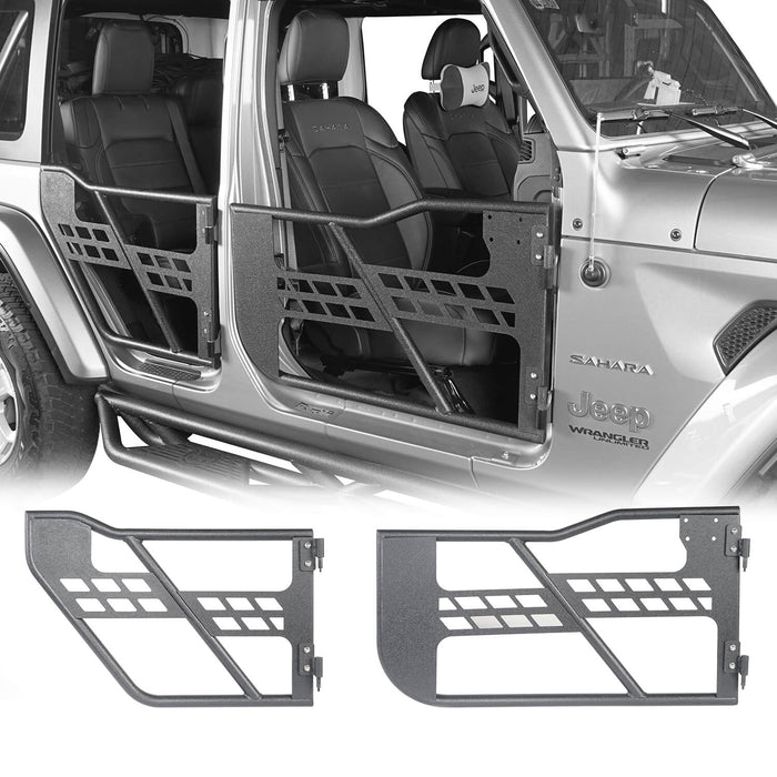 Hooke Road® 4 Door Tubular Door & Running Boards(18-20 Jeep Wrangler JL)