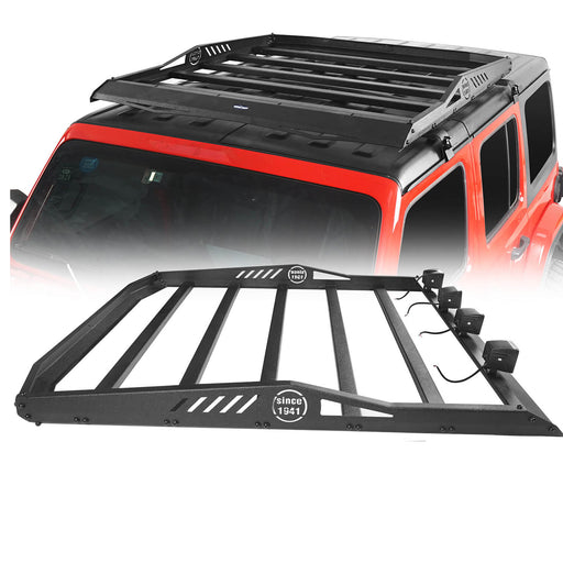 Hooke Road Jeep JL Hard Top Roof Rack Cargo Carrier Basket for Jeep Wrangler JL 2018-2020 bxg518 u-Box Offroad 2