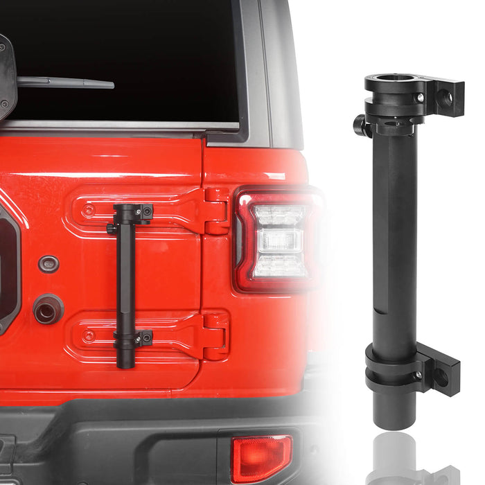 Hooke Road Tailgate Hinge Mount Single Flag & Antenna Holder Kit for 18-20 Jeep Wrangler JL Jeep JL Parts MMR1819 u-Box offroad 2