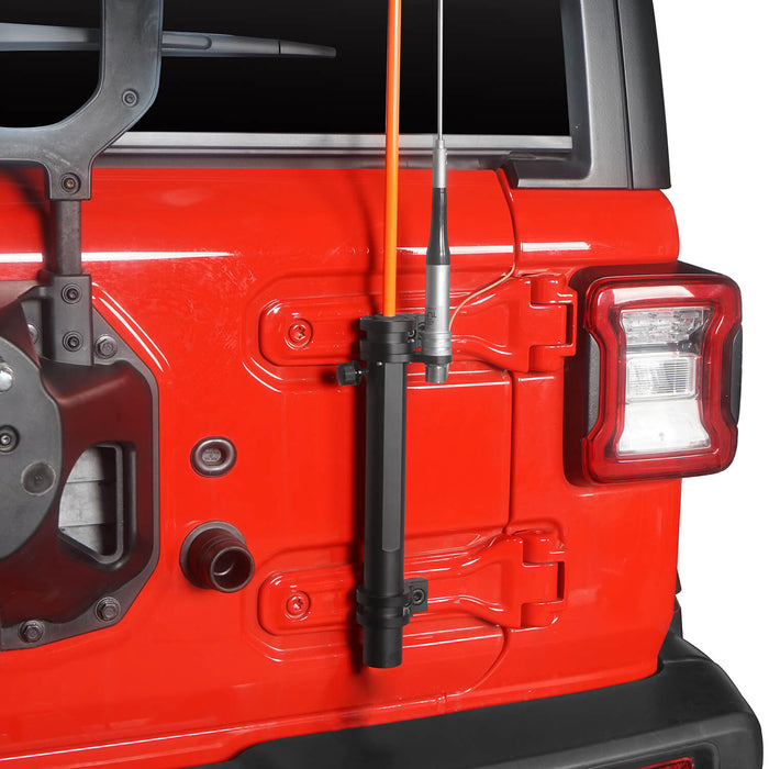 Hooke Road Tailgate Hinge Mount Single Flag & Antenna Holder Kit for 18-20 Jeep Wrangler JL Jeep JL Parts MMR1819 u-Box offroad 4