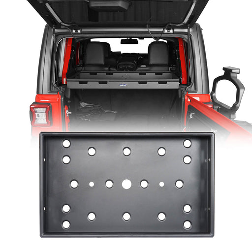 Hooke Road Jeep JL Jeep Wrangler JLU Interior Cargo Rack Soft Top Hard Top for 2018-2020 Jeep JL 4 Doors Jeep JLU 4 Doors Jeep Parts BXG523 u-Box Offroad 2