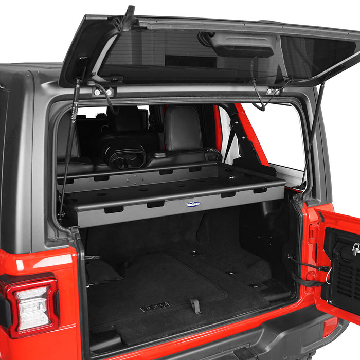 Hooke Road Jeep JL Jeep Wrangler JLU Interior Cargo Rack Soft Top Hard Top for 2018-2020 Jeep JL 4 Doors Jeep JLU 4 Doors Jeep Parts BXG523 u-Box Offroad 4