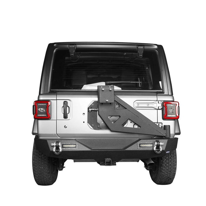 Hooke Road® Mad Max Front Bumper & Rear Bumper w/Tire Carrier(18-21 Jeep Wrangler JL)