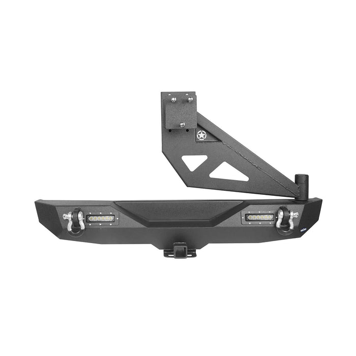 Hooke Road® Front Bumper & Rear Bumper w/Tire Carrier(18-21 Jeep Wrangler JL)