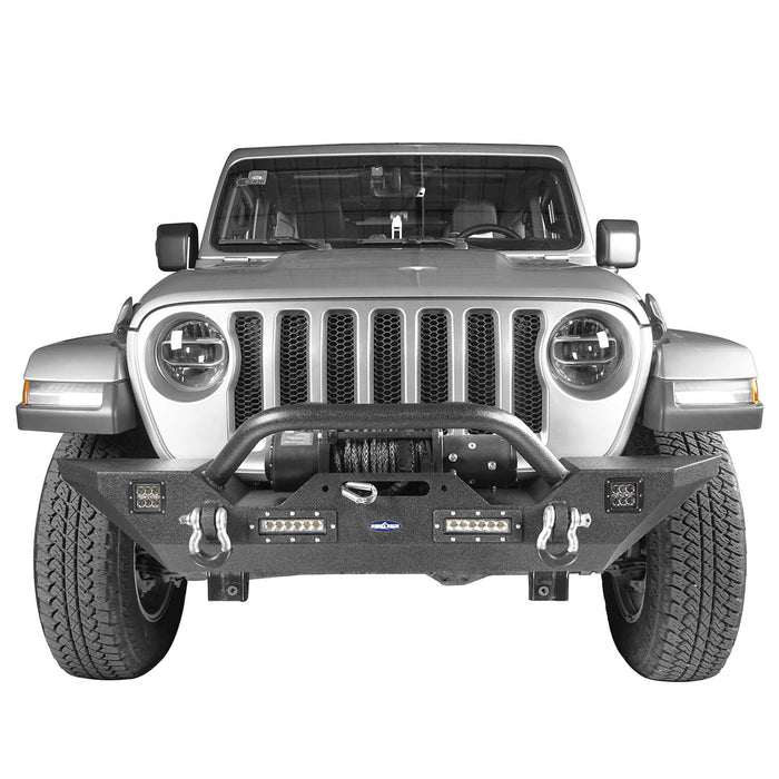 Hooke Road Jeep JL Mid Width Front Bumper with Winch Plate Rear Bumper for 2018-2019 Jeep Wrangler JL bxg543bxg505 Jeep Parts Jeep Body Kits u-Box offroad 5