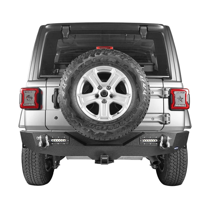 Hooke Road Jeep JL Rear Bumper with 2 inch Hitch Receiver Jeep JL Bumper Jeep JL Accessories for Jeep Wrangler JL 2018-2019 BXG505 u-Box offroad 3
