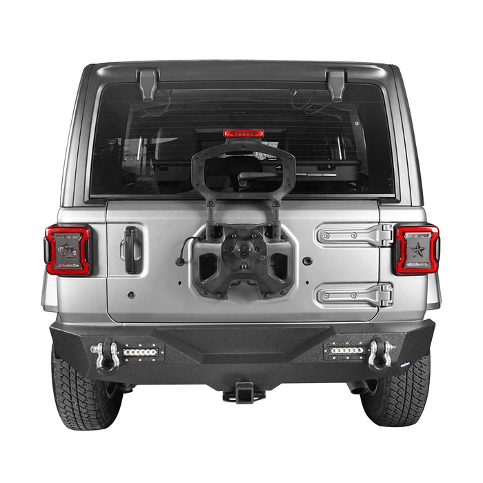 Hooke Road Jeep JL Rear Bumper with 2 inch Hitch Receiver Jeep JL Bumper Jeep JL Accessories for Jeep Wrangler JL 2018-2019 BXG505 u-Box offroad 4