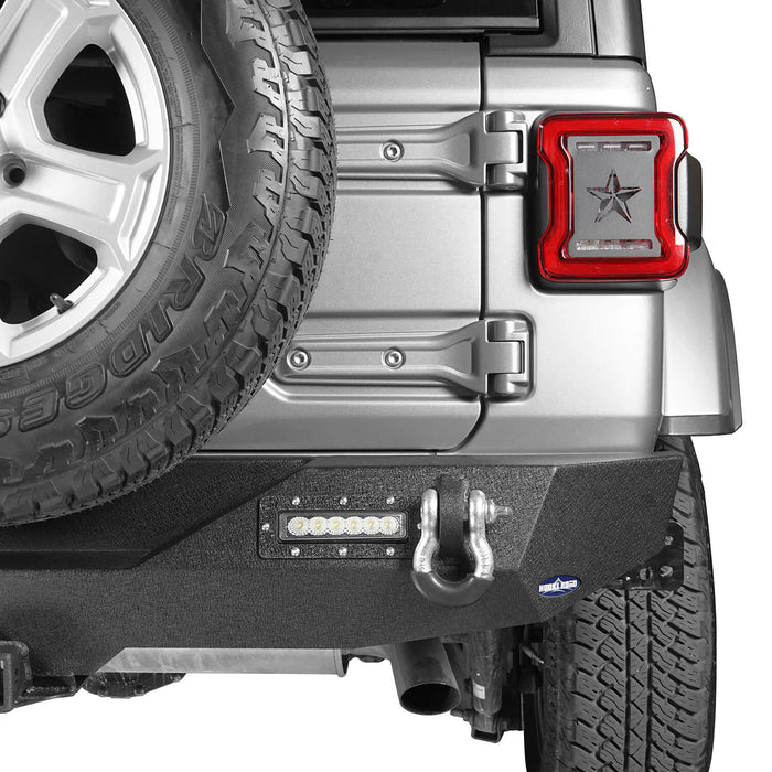 Hooke Road Jeep JL Rear Bumper with 2 inch Hitch Receiver Jeep JL Bumper Jeep JL Accessories for Jeep Wrangler JL 2018-2019 BXG505 u-Box offroad 6