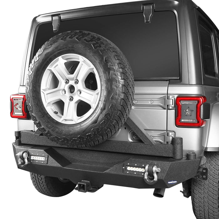 Hooke Road Jeep JL Rear Bumper with Tire Carrier for Jeep Wrangler JL 2018-2019 BXG504 u-Box offroad 4