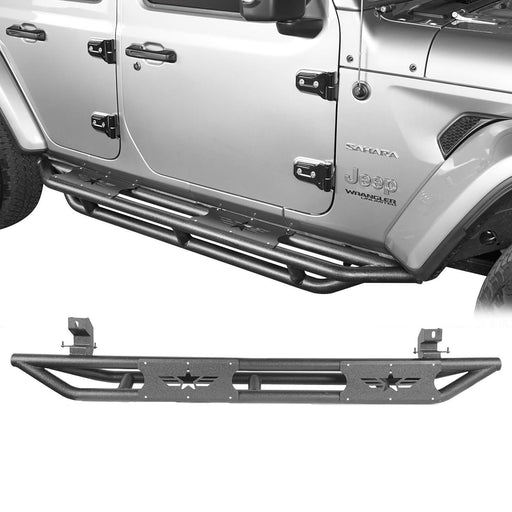 Hooke Road Jeep JL Side Steps Running Boards for 2018-2019 Jeep Wrangler JL u-Box offroad 2