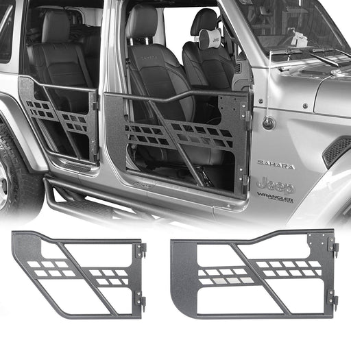 Hooke Road Jeep JL Tube Doors 4 Door half doors for Jeep Wrangler JL 2018-2019 BXG512 Jeep JL Accessories u-Box offroad 2