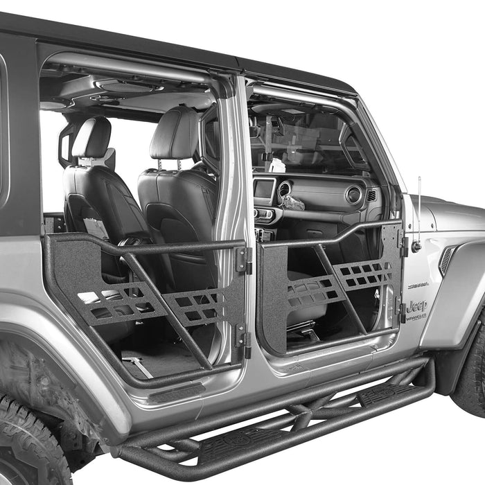Hooke Road Jeep JL Tube Doors 4 Door half doors for Jeep Wrangler JL 2018-2019 BXG512 Jeep JL Accessories u-Box offroad 4