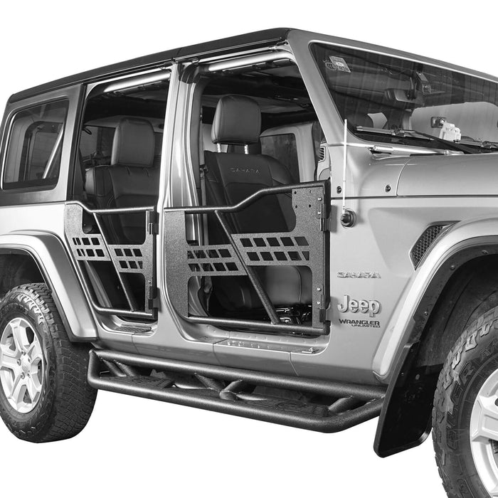 Hooke Road Jeep JL Tube Doors 4 Door half doors for Jeep Wrangler JL 2018-2019 BXG512 Jeep JL Accessories u-Box offroad 5