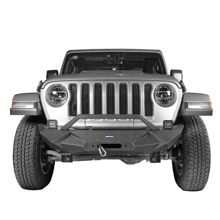 Hooke Road® Blade Master Front Bumper w/Winch Plate & License Plate Holder(20-21 Jeep Gladiator JT)