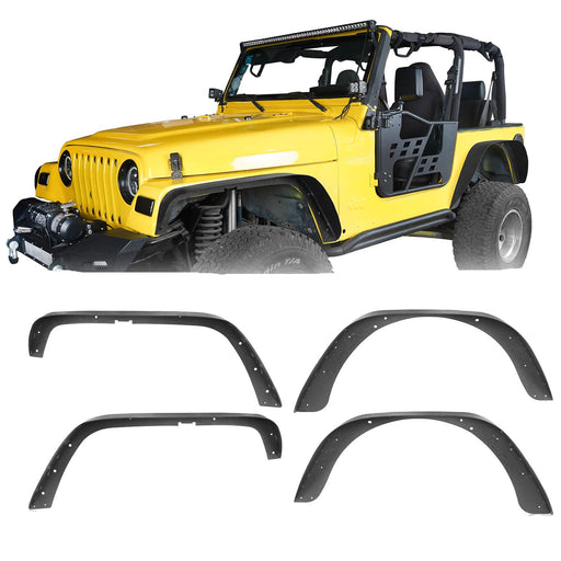 Hooke Road Jeep TJ Fender Flares for Jeep Wrangler TJ 1997-2006 BXG056 Jeep Wrangler TJ Parts u-Box offroad 2
