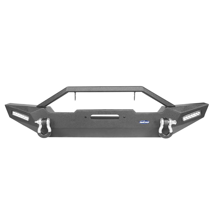 Hooke Road Jeep TJ Front and Rear Bumper Combo with Tire Carrier Blade Master Front Bumper and Explorer Rear Bumper for Jeep Wrangler YJ TJ 1987-2006 BXG130145 Jeep TJ Front and Rear Bumper Combo u-Box Offroad 7