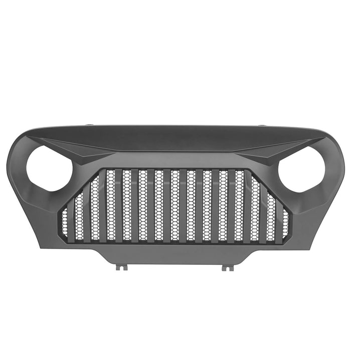 Hooke Road Jeep TJ Front Bumper and Gladiator Grille Cover Combo for Jeep Wrangler TJ 1997-2006 MMR0276BXG149 Different Trail Front Bumper u-Box Offroad 10