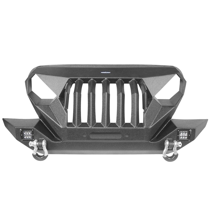Hooke Road Jeep TJ Front Bumper Grille Guard Winch Plate for 1997-2006 Jeep Wrangler TJ u-Box Offroad Jeep Wrangler Front bumper Jeep Front bumper Jeep Wrangler Accessories BXG214 6