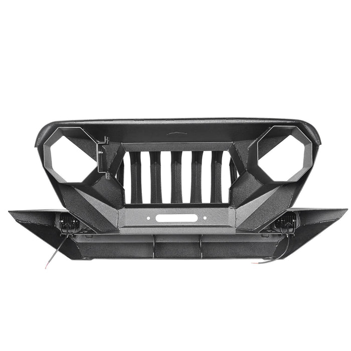 Hooke Road Jeep TJ Front Bumper Grille Guard Winch Plate for 1997-2006 Jeep Wrangler TJ u-Box Offroad Jeep Wrangler Front bumper Jeep Front bumper Jeep Wrangler Accessories BXG214 7