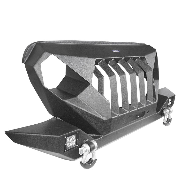 Hooke Road Front Bumper w/Grille Guard & Winch Plate for 1997-2006 Jeep Wrangler TJ u-Box Offroad Jeep Wrangler Accessories BXG214 8