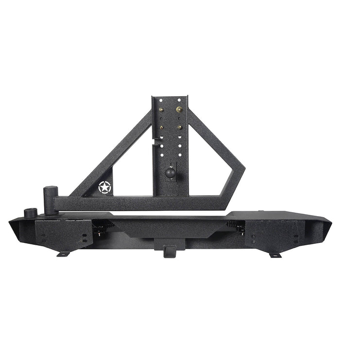 Hooke Road Jeep TJ Rear Bumper With Tire Carrier & Receiver Hitch for Jeep Wrangler TJ 1997-2006 BXG186 u-Box offroad 9