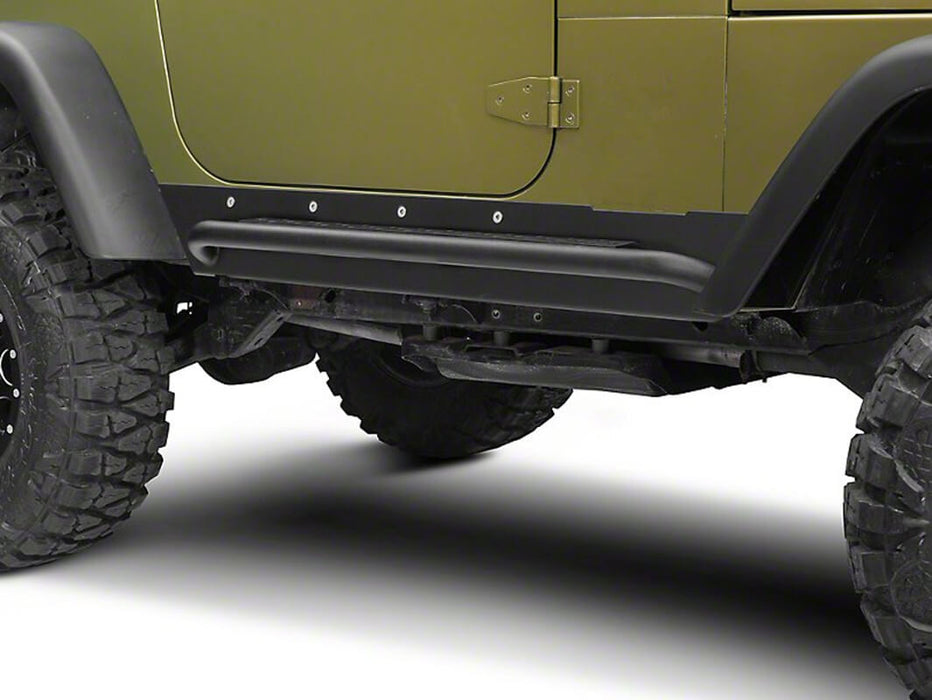 Hooke Road Opar Side Steps Door Guards for 1997-2006 Jeep Wrangler TJ u-Box offroad 6