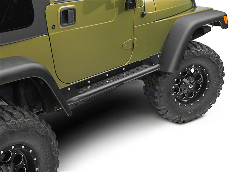 Hooke Road Opar Side Steps Door Guards for 1997-2006 Jeep Wrangler TJ u-Box offroad 7