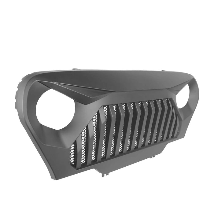Hooke Road Vader Grill with Mesh Inserts Jeep Vader Grill Front Grille Cover Jeep Grille Cover for Jeep Wrangler TJ 1997-2006 MMR-0276 Jeep Body Armor 7