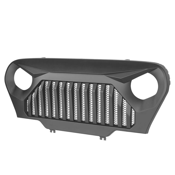 Hooke Road Vader Grill with Mesh Inserts Jeep Vader Grill Front Grille Cover Jeep Grille Cover for Jeep Wrangler TJ 1997-2006 MMR-0276 Jeep Body Armor 8