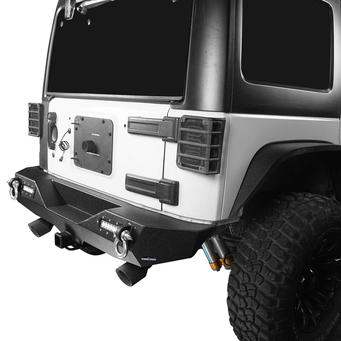 Hooke Road Opar Lotus Tubular Front Bumper & Different Trail Rear Bumper Combo Kit for 2007-2018 Jeep Wrangler JK JKU BXG132116 u-Box offroad 11