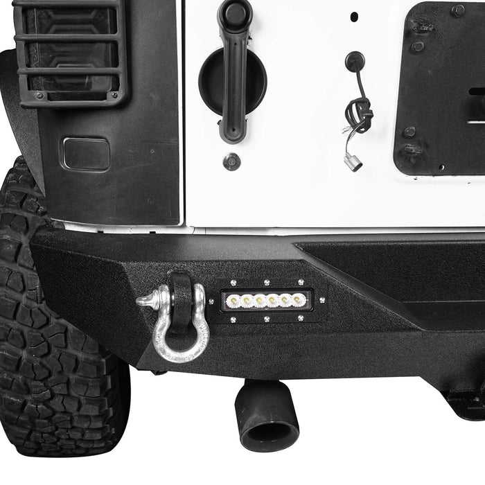 Hooke Road Opar Lotus Tubular Front Bumper & Different Trail Rear Bumper Combo Kit for 2007-2018 Jeep Wrangler JK JKU BXG132116 u-Box offroad 12