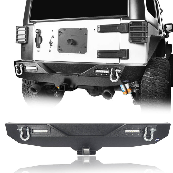 Hooke Road Opar Lotus Tubular Front Bumper & Different Trail Rear Bumper Combo Kit for 2007-2018 Jeep Wrangler JK JKU BXG132116 u-Box offroad 9