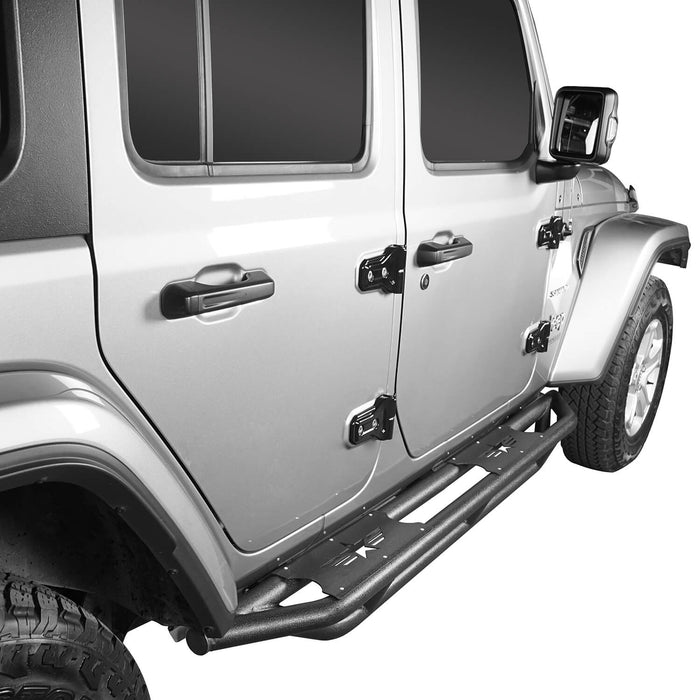 Mad Max Front Bumper Grill & Tube Side Steps(18-21 Jeep Wrangler JL 4 Door)