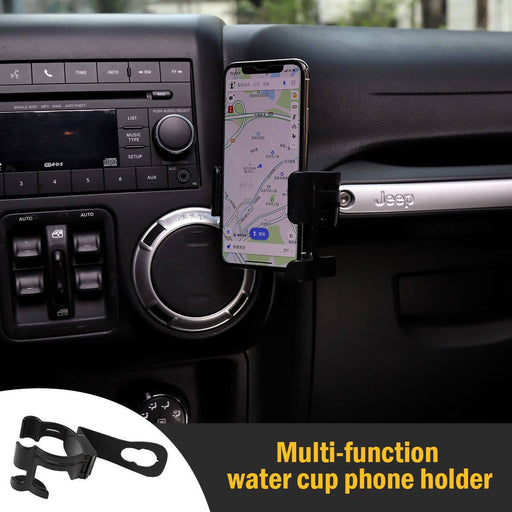 Hooke Road Multi-function Mobile Phone Brackets for Jeep Wrangler JK 2011-2018 MMR1733 Jeep Interior u-Box offroad 1