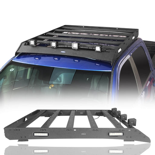 Hooke Road Top Roof Rack Cargo Carrier(09-18 Dodge Ram 1500 Crew Cab)
