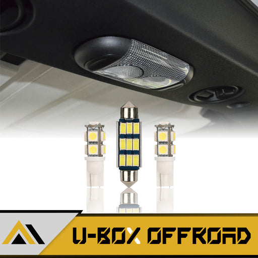 Interior LED Light Bulbs Front & Rear Upper Reading Lights(07-18 Jeep Wrangler JK JKU)