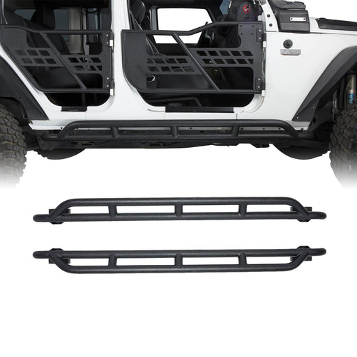 Hooke Road Opar Jeep Wrangler JKU Nerf Bars Running Boards Door Guards u-Box offroad 2