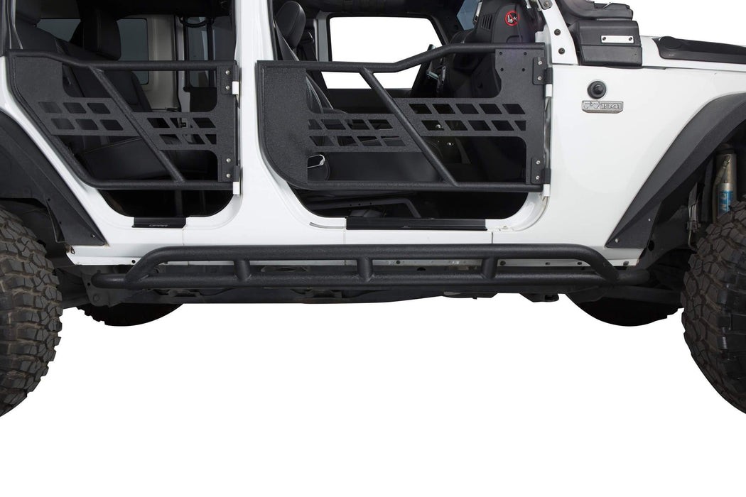 Hooke Road Opar Jeep Wrangler JKU Nerf Bars Running Boards Door Guards u-Box offroad 3